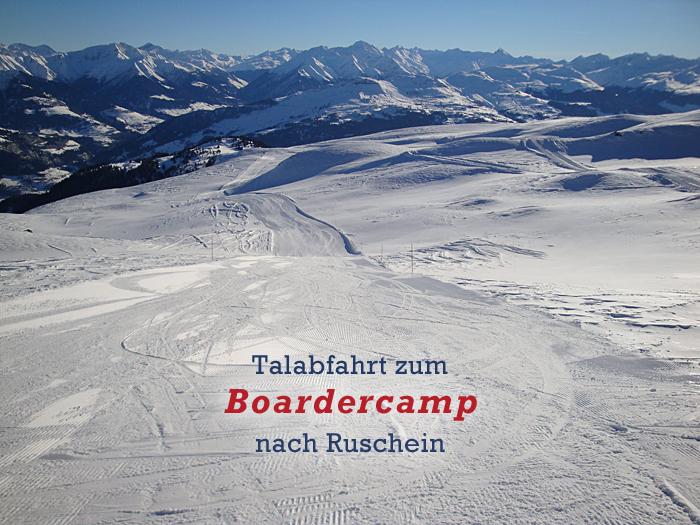 Talabfahrt zum Boardercamp nach Ruschein